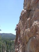 Rock Climbing Photo: Thin, thin; fun, fun - on the crux of Bird of Prey...