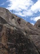 Rock Climbing Photo: Al Sanderson cruisin' on his Psychadelic Psolo.