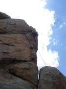 Rock Climbing Photo: The finishing moves - Al Sanderson high on the rou...