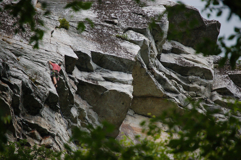 Rock Climbing Photo: Rich Gottlieb, just after the crux on P2.
