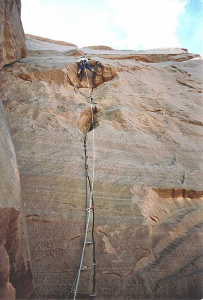 Rock Climbing Photo: Paul half way on final pitch
