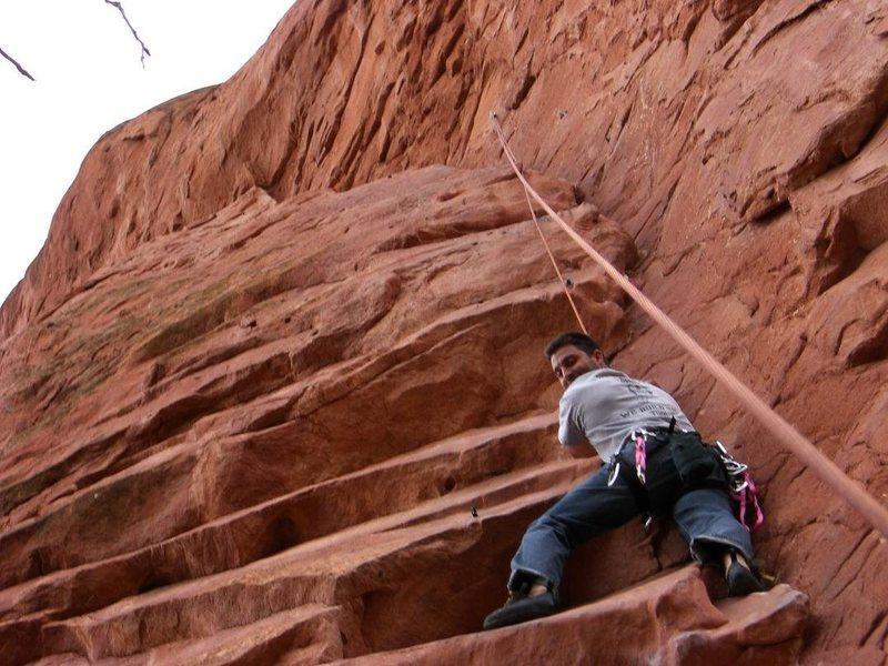 Rock Climbing Photo: Tobias kicking it TR style.
