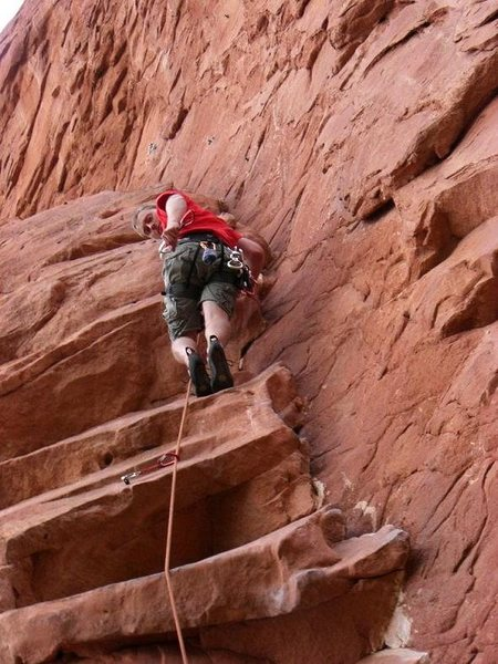 Rock Climbing Photo: First lead at the Garden.