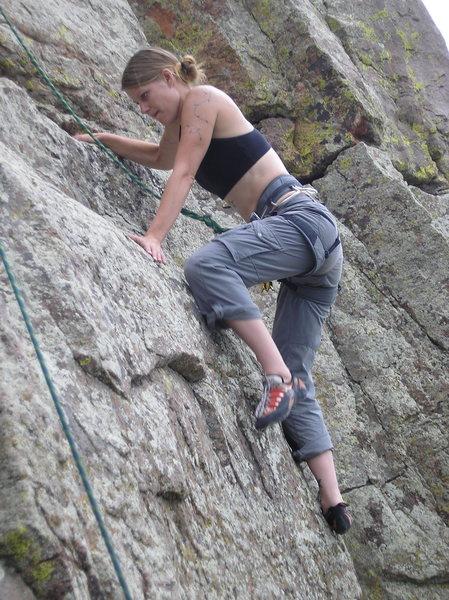Rock Climbing Photo: pulling up...