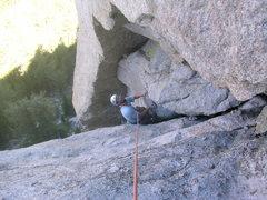 Rock Climbing Photo: Jose following pitch 2