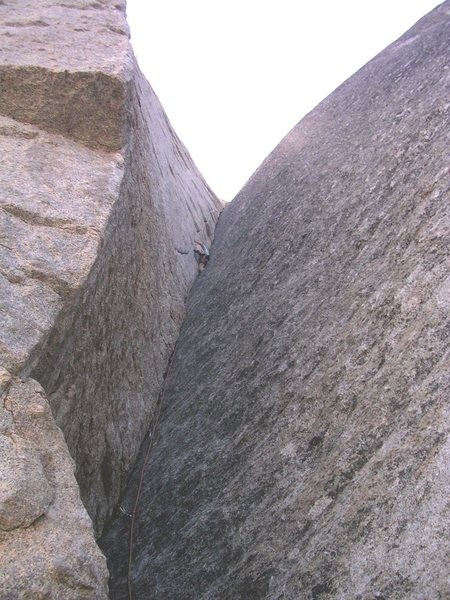 "Rock Climbing Photo: Jose leading the ""handcrack in a corner that ..."