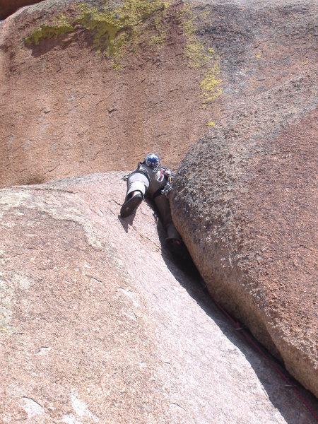 Rock Climbing Photo: Ass end of Lower Progressive.