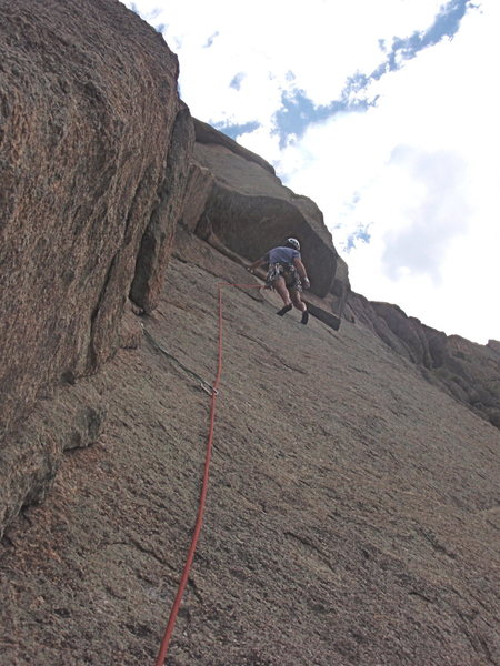 Rock Climbing Photo: Lumpy Ridge on the Book mark. Pitch 2 of Backflip....