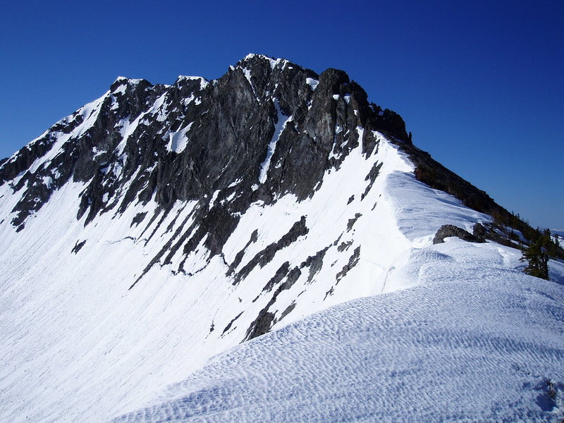 Hoyt Peak, 10,506', in the Absaroka Range. Northwest Ridge.  June 08