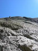 Rock Climbing Photo: Don Jeff leading Spaceballs - 7/08