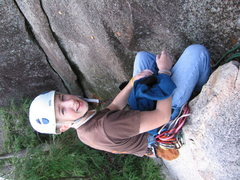 Rock Climbing Photo: me sitting on the lunch ledge