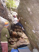 Rock Climbing Photo: Seth C. getting it.