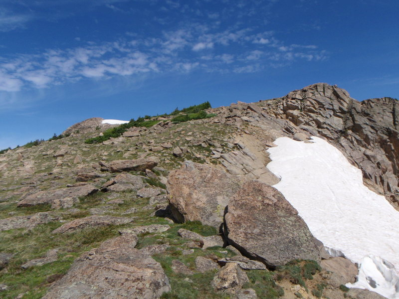 Rock Climbing Photo: Snow on Watanga Mtn
