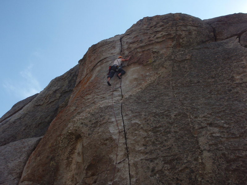 Rock Climbing Photo: awesome pitch, not nearly as hard as it looks from...