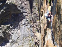 Rock Climbing Photo: Following the pitch just before the A4 Traverse on...