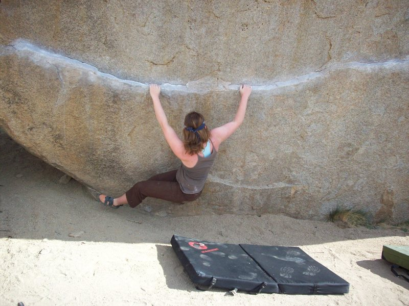 Ironman Traverse, V4. Good body positioning is a must!