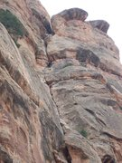 Rock Climbing Photo: 2nd pitch of Otto's Route. It's almost too easy wi...