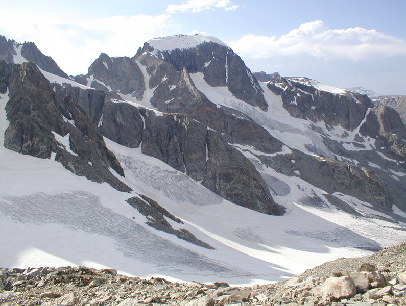Rock Climbing Photo: Gannett Peak from Dinwoody Pass (aka Bonnie Pass).