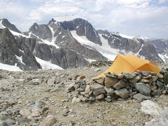 Rock Climbing Photo: Gannett Peak from Dinwoody Pass.