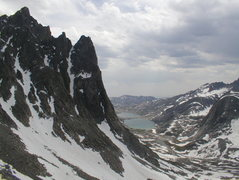 Rock Climbing Photo: Mt. Helen and Tower 1 Gully from Dinwoody Pass wit...