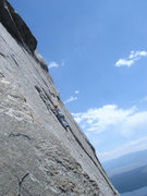 Rock Climbing Photo: The beautiful airy interlude of the great traverse...