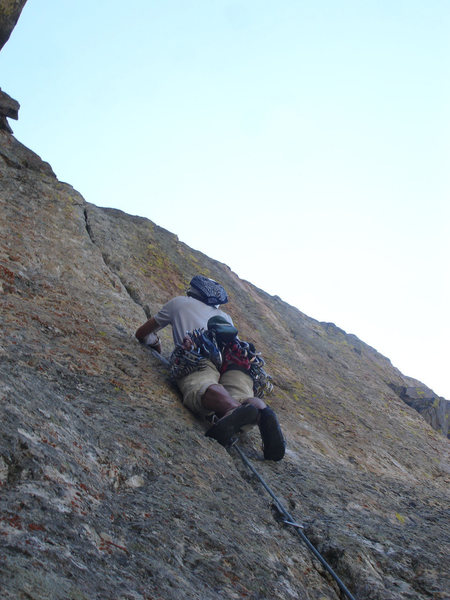 Rock Climbing Photo: Beautiful steep fingers on Sunshine Day Dream
