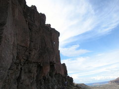 Rock Climbing Photo: George Perkins near the crux on Thorazine Dream.