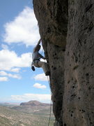 Rock Climbing Photo: George Perkins warming up on Heucos Rancheros