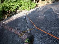 Rock Climbing Photo: My dad and I climbing to the tree shelf.