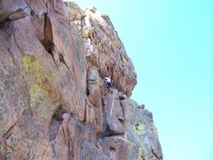Rock Climbing Photo: Shane Zentner leading the first pitch of Outer Spa...