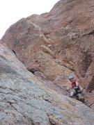 Rock Climbing Photo: Sean heading up Swallow Crack