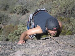 Rock Climbing Photo: Michael attacking, West Face of First Sister
