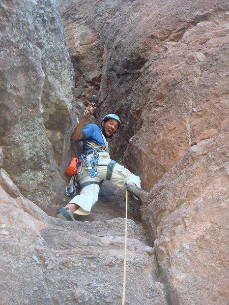 Crazy about climbing Portent. (photo: Michael Gutierrez)