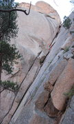 Rock Climbing Photo: Pitch one and 2 are visible the belay for pitch 1 ...