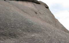 Rock Climbing Photo: Pitch 4. I didn't even see the first bolt untill I...