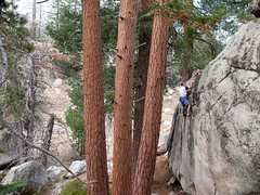 Rock Climbing Photo: Mike high above it all on Serpentine Ridge (V0- R)...