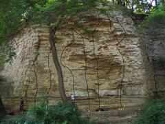 Rock Climbing Photo: The Overhang 1. Chomping the Bit 2. Malaria 3. The...