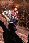 Rock Climbing Photo: Mystery Climber from the 1970's about to attempt t...