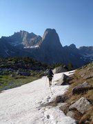 Rock Climbing Photo: Our pleasant hike into the Cirque after descending...