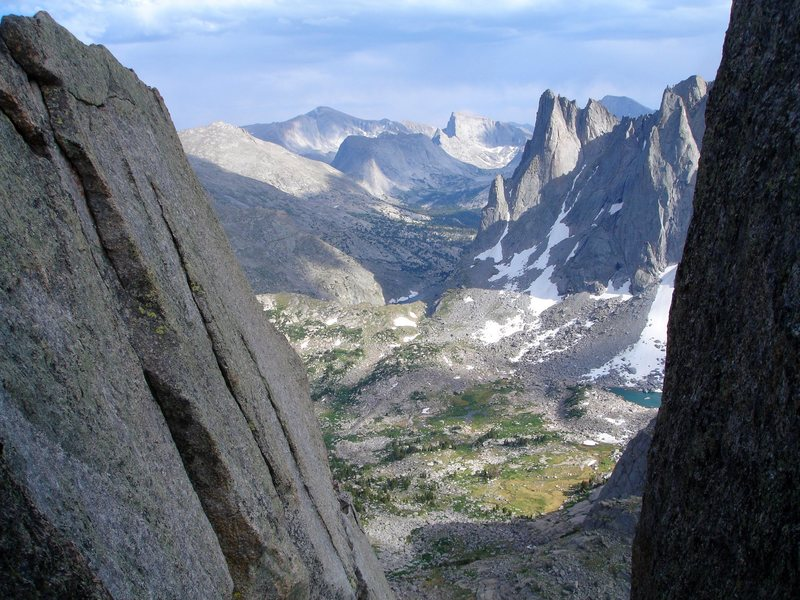 Room with a view. I believe I took this pic from a belay stance on the South Buttress of Pingora.