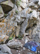 Rock Climbing Photo: The start of Luminosity.  It has an interesting st...