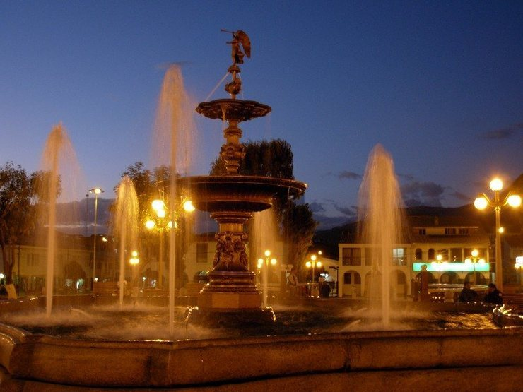 Rock Climbing Photo: Fountain at the Plaza de Armas, Huaraz.