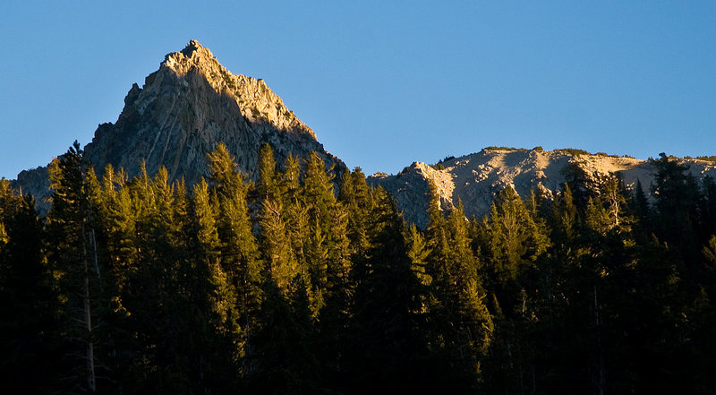 Crystal Crag catching the last rays of the sun on a perfect Eastside Day.