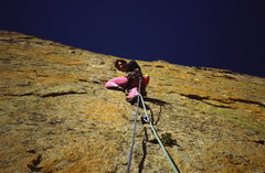 Rock Climbing Photo: Tom Sciolino on the lower section of the Yellow Wa...