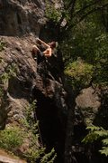 Rock Climbing Photo: Ladd resting before getting to the crux.