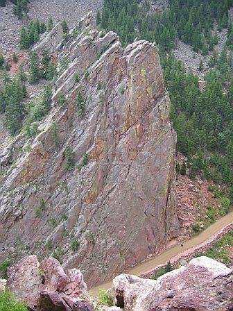 Rock Climbing Photo: Bastille Crack, Eldorado Canyon, CO