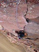 Rock Climbing Photo: Heather Selitrennikoff, First pitch of Bastille Cr...