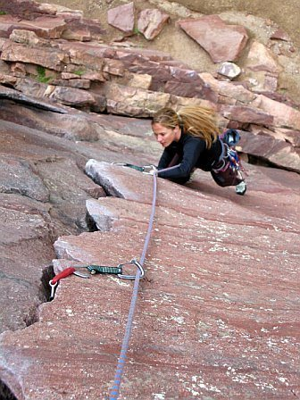 Heather Selitrennikoff, Bastille Crack, Eldorado Canyon, CO