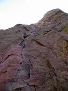 Rock Climbing Photo: Looking up at Bastille Crack.