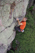 Rock Climbing Photo: Son of a Great Chimney Direct. Crux section near t...